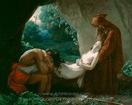 Burial of Atala painting reproduction, Anne Louis Girodet