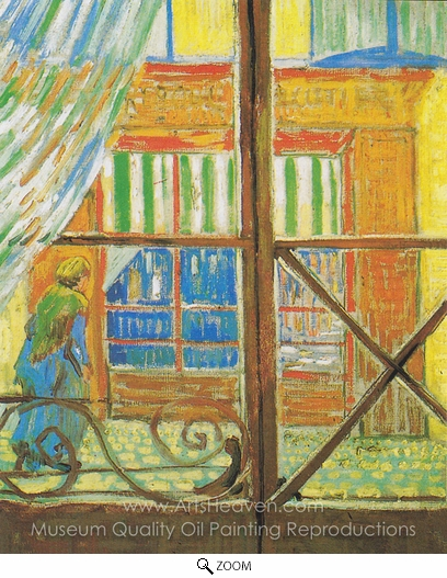 Vincent Van Gogh, Butcher, Seen Through a Window oil painting reproduction