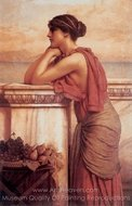 By the Wayside painting reproduction, John William Godward