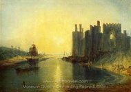 Caernarvon Castle painting reproduction, Joseph M. W. Turner