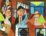 Cafe in Davos painting reproduction, Ernst Ludwig Kirchner