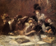 Cafe Maxim, Paris painting reproduction, Jean-Louis Forain