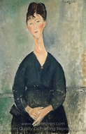 Cafe Singer painting reproduction, Amedeo Modigliani