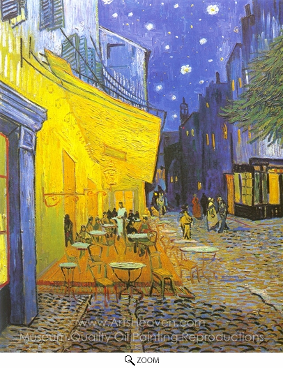 Vincent Van Gogh, Cafe Terrace at Night oil painting reproduction