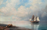 Calm Early Evening Sea painting reproduction, Ivan Aivazovskiy