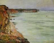 Calm Weather, Fecamp painting reproduction, Claude Monet