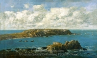 Camaret, Le Toulinguet painting reproduction, Eugene-Louis Boudin