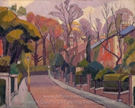 Cambrian Road, Richmond painting reproduction, Spencer Frederick Gore