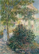 Camille Monet in the Garden at Argenteuil painting reproduction, Claude Monet