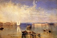 Campo Santo, Venice painting reproduction, Joseph M. W. Turner
