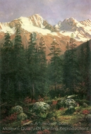 Canadian Rockies painting reproduction, Albert Bierstadt