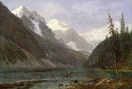 Canadian Rockies (Lake Louise) painting reproduction, Albert Bierstadt