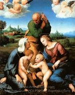 Canigiani Holy Family painting reproduction, Raphael Sanzio