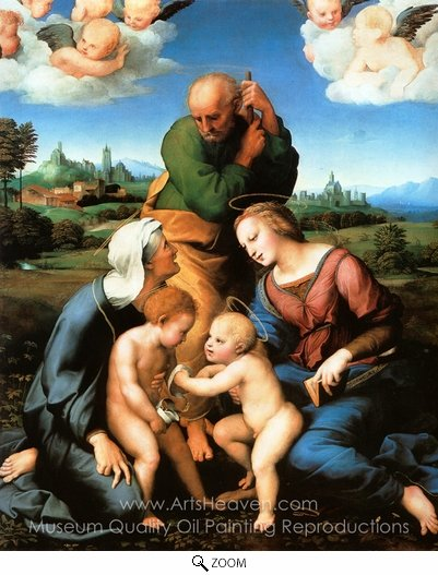 Raphael Sanzio, Canigiani Holy Family oil painting reproduction