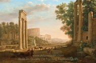 Capriccio with Ruins of the Roman Forum painting reproduction, Claude Lorraine