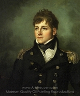 Captain George Miller Bligh painting reproduction, Mather Brown
