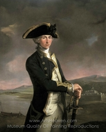 Captain Horatio Nelson painting reproduction, John Francis Rigaud