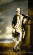 Captain Hugh Palliser painting reproduction, George Dance