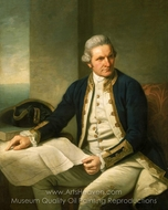 Captain James Cook painting reproduction, Nathaniel Dance