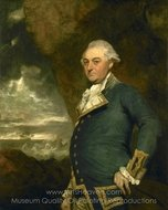 Captain John Gell painting reproduction, Sir Joshua Reynolds