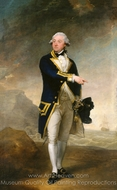 Captain John Gell painting reproduction, Gilbert Stuart