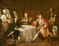 Captain Lord George Graham in His Cabin painting reproduction, William Hogarth