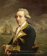Captain Robert Man painting reproduction, John Francis Rigaud