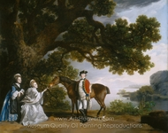 Captain Samuel Sharpe Pocklington with His Wife, Pleasance painting reproduction, George Stubbs