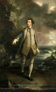 Captain the Honourable Augustus Keppel painting reproduction, Sir Joshua Reynolds