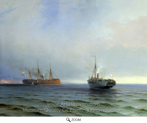 Ivan Aivazovskiy, Capture of Messina oil painting reproduction
