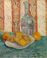 Carafe and Dish with Citrus Fruit painting reproduction, Vincent Van Gogh