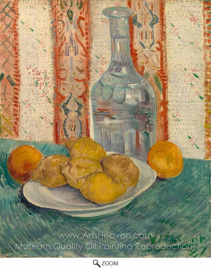 Vincent Van Gogh, Carafe and Dish with Citrus Fruit oil painting reproduction