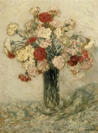 Carnations in a Vase painting reproduction, Jean-Francois Raffaelli
