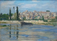 Carrieres Saint-Denis painting reproduction, Claude Monet