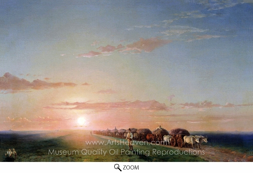 Ivan Aivazovskiy, Carts in Steppe oil painting reproduction