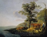 Cattle Near a River painting reproduction, Aelbert Cuyp
