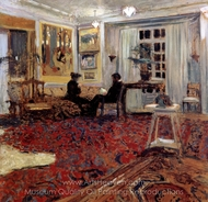 Causerie chez les Fontaines painting reproduction, Edouard Vuillard