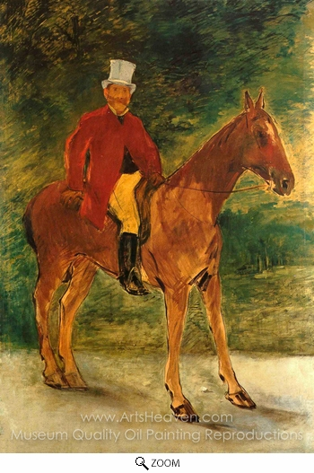 Édouard Manet, Cavalier (Equestrian Portrait of Mr. Arnaud) oil painting reproduction