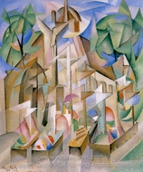 Cemetery painting reproduction, Alice Bailly