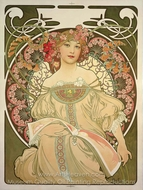 Champagne Printer Publisher painting reproduction, Alfonse Mucha