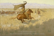 Change of Ownership (The Stampede, Horse Thieves) painting reproduction, Frederic Remington