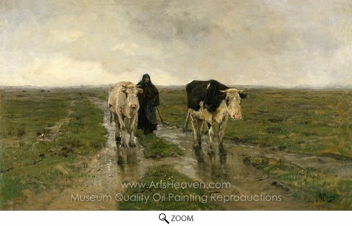 Anton Mauve, Changing Pasture oil painting reproduction