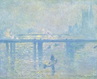 Charing Cross Bridge painting reproduction, Claude Monet