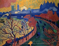 Charing Cross Bridge painting reproduction, Andre Derain