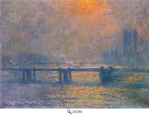 Claude Monet, Charing Cross Bridge, the Thames oil painting reproduction