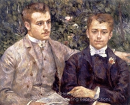 Charles and Georges Durand-Ruel painting reproduction, Pierre-Auguste Renoir
