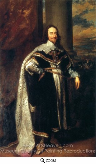 Sir Anthony Van Dyck, Charles I oil painting reproduction