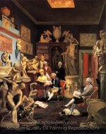 Charles Towneley in His Sculpture Gallery painting reproduction, Johann Zoffany