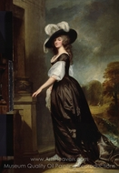 Charlotte, Lady Milnes painting reproduction, George Romney