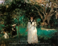 Chasing Butterflies painting reproduction, Berthe Morisot